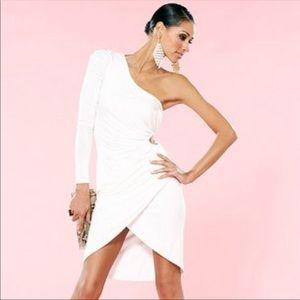 Bebe Kardashian White Bodycon Dress